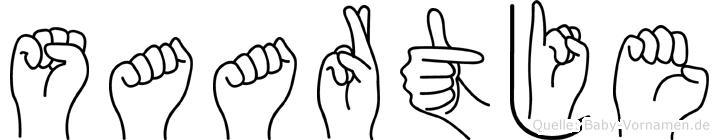 Saartje in Fingersprache für Gehörlose