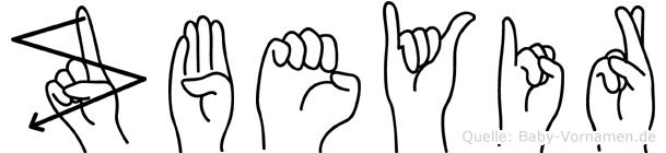 Zübeyir im Fingeralphabet der Deutschen Gebärdensprache