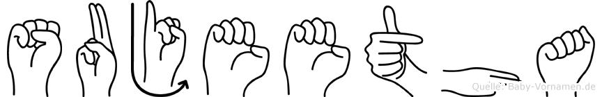 Sujeetha im Fingeralphabet der Deutschen Gebärdensprache