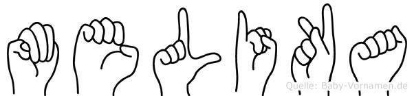 Melika im Fingeralphabet der Deutschen Gebärdensprache