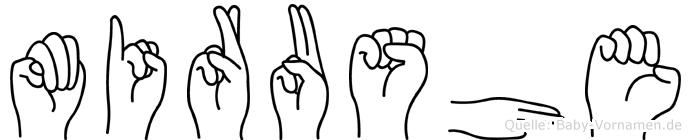 Mirushe im Fingeralphabet der Deutschen Gebärdensprache