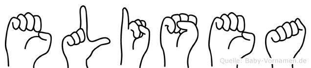 Elisea im Fingeralphabet der Deutschen Gebärdensprache