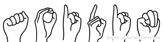 Aoidin im Fingeralphabet der Deutschen Gebärdensprache