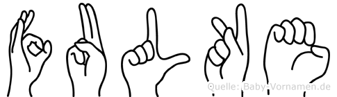 Fulke in Fingersprache für Gehörlose