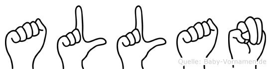 Allan im Fingeralphabet der Deutschen Gebärdensprache