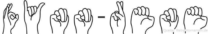 Fynn-Rene im Fingeralphabet der Deutschen Gebärdensprache