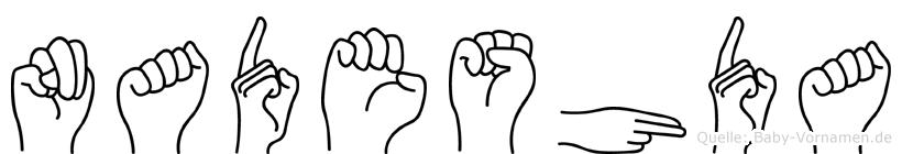 Nadeshda im Fingeralphabet der Deutschen Gebärdensprache