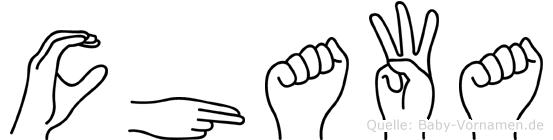 Chawa in Fingersprache für Gehörlose
