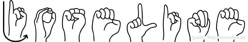 Joseline im Fingeralphabet der Deutschen Gebärdensprache