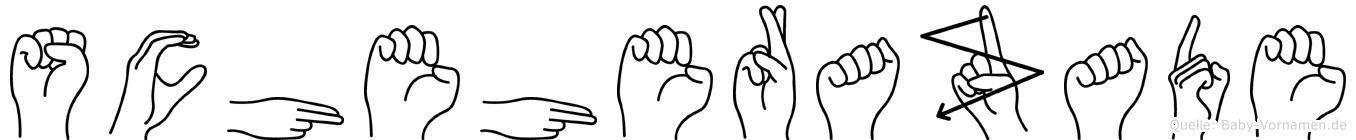 Scheherazade in Fingersprache für Gehörlose