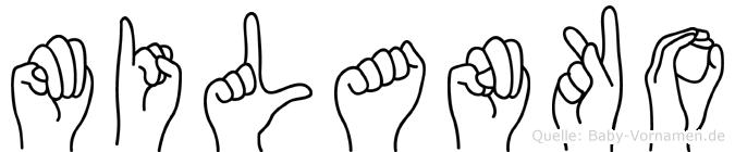 Milanko im Fingeralphabet der Deutschen Gebärdensprache