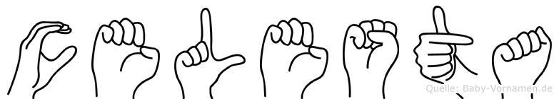 Celesta im Fingeralphabet der Deutschen Gebärdensprache