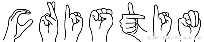 Cristin in Fingersprache für Gehörlose
