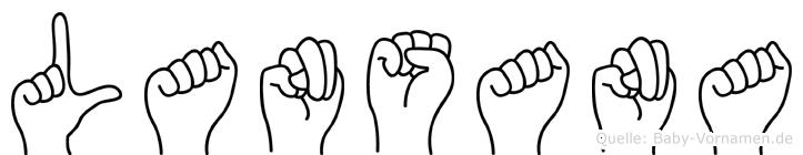 Lansana in Fingersprache für Gehörlose