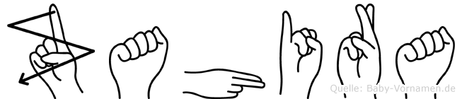 Zahira im Fingeralphabet der Deutschen Gebärdensprache