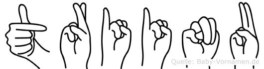 Triinu im Fingeralphabet der Deutschen Gebärdensprache