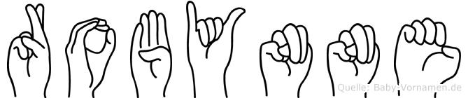 Robynne im Fingeralphabet der Deutschen Gebärdensprache