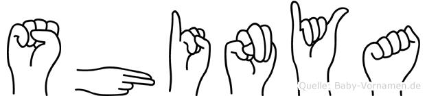 Shinya in Fingersprache für Gehörlose