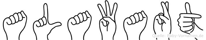 Alawart im Fingeralphabet der Deutschen Gebärdensprache