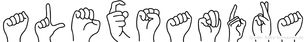 Alexsandra in Fingersprache für Gehörlose