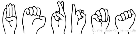 Berina in Fingersprache für Gehörlose