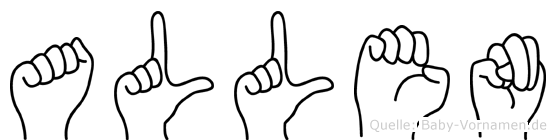 Allen im Fingeralphabet der Deutschen Gebärdensprache