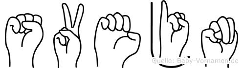 Svejn im Fingeralphabet der Deutschen Gebärdensprache