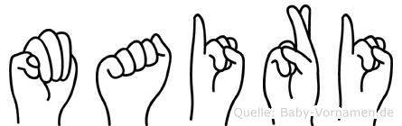 Mairi im Fingeralphabet der Deutschen Gebärdensprache