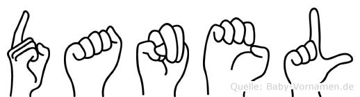 Danel im Fingeralphabet der Deutschen Gebärdensprache