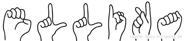 Ellika im Fingeralphabet der Deutschen Gebärdensprache