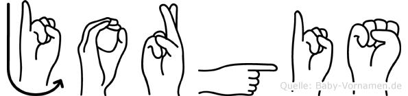 Jorgis in Fingersprache für Gehörlose