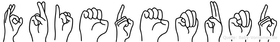 Friedemund in Fingersprache für Gehörlose