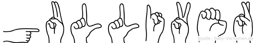 Gulliver im Fingeralphabet der Deutschen Gebärdensprache