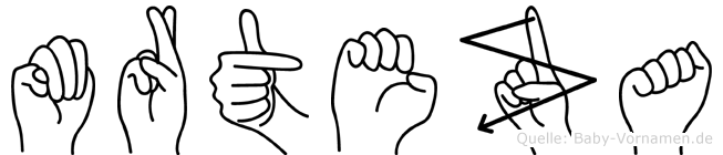 Mürteza im Fingeralphabet der Deutschen Gebärdensprache