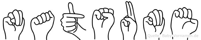 Natsume in Fingersprache für Gehörlose