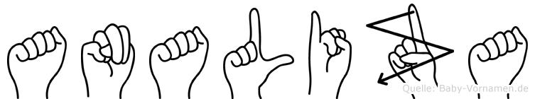 Analiza im Fingeralphabet der Deutschen Gebärdensprache