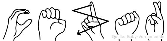 Cezar im Fingeralphabet der Deutschen Gebärdensprache