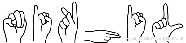 Nikhil in Fingersprache für Gehörlose