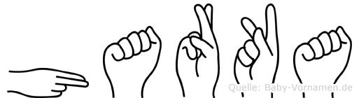 Harka im Fingeralphabet der Deutschen Gebärdensprache