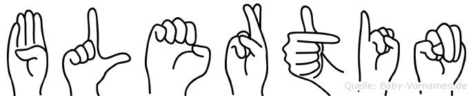 Blertin im Fingeralphabet der Deutschen Gebärdensprache