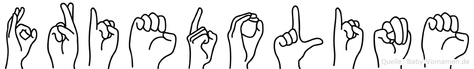 Friedoline in Fingersprache für Gehörlose
