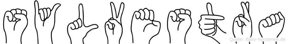 Sylvestra im Fingeralphabet der Deutschen Gebärdensprache