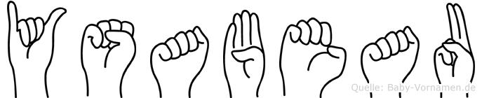 Ysabeau im Fingeralphabet der Deutschen Gebärdensprache