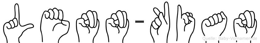 Lenn-Kian im Fingeralphabet der Deutschen Gebärdensprache