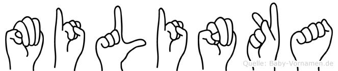 Milinka in Fingersprache für Gehörlose