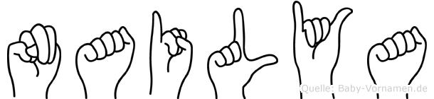 Nailya im Fingeralphabet der Deutschen Gebärdensprache