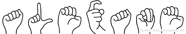 Alexane in Fingersprache für Gehörlose