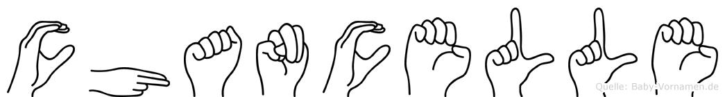 Chancelle in Fingersprache für Gehörlose