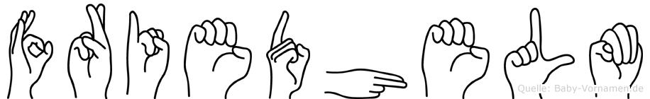 Friedhelm im Fingeralphabet der Deutschen Gebärdensprache