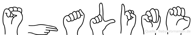 Shaline in Fingersprache für Gehörlose